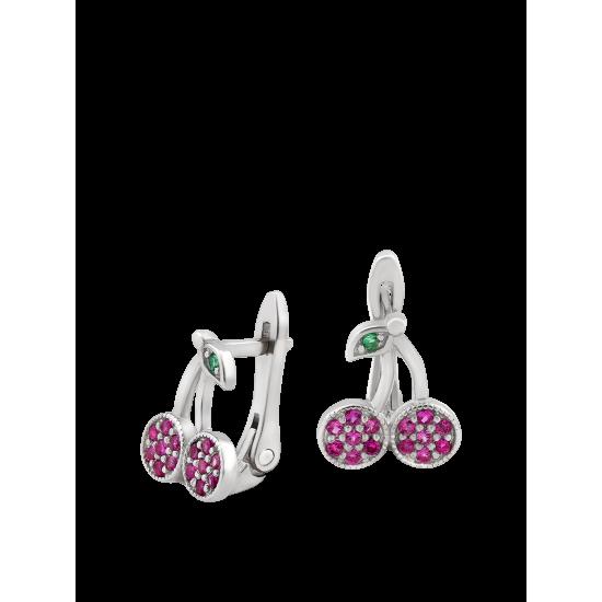 Серебряные серьги Вишенки ЛК-0215рз