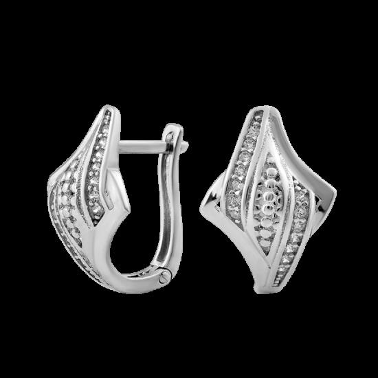 Серебряные серьги  ЛК-0237