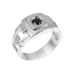Серебряное кольцо Мистер Икс 114р(т)