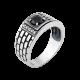 Серебряное кольцо  413ч(т)