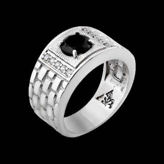 Кольцо серебряное  413р
