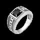 Серебряное кольцо  430ч(т)