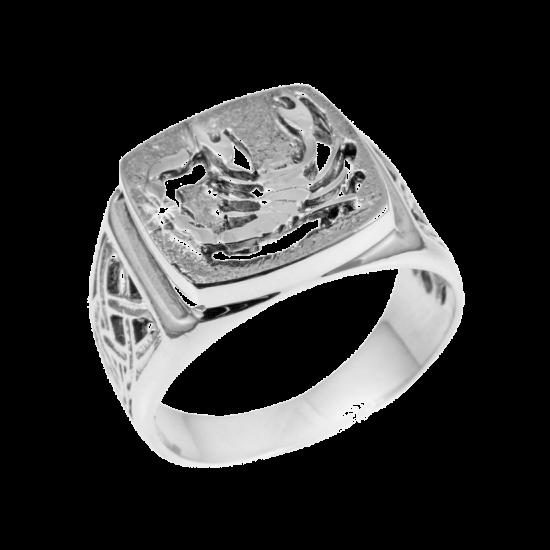 Серебряное кольцо  448ч