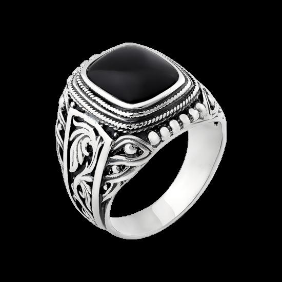Кольцо серебряное  455ч