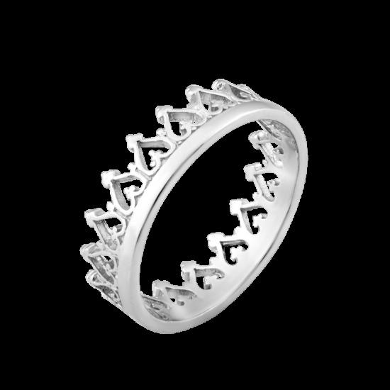 Кольцо серебряная корона ВС-048р