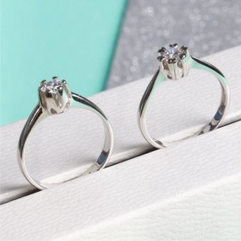 Серебряное кольцо с одним камнем Бутон