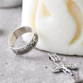 """Серебряное кольцо """"Господи спаси и помилуй мя грешного"""""""
