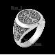 Мужское серебряное кольцо печатка Дерево Жизни с чернением ВС-104ч