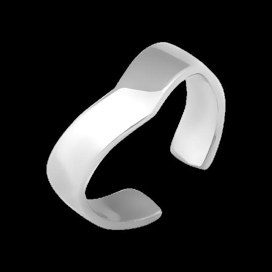 Серебряное кольцо на фалангу без камней Треугольник ВС-111р