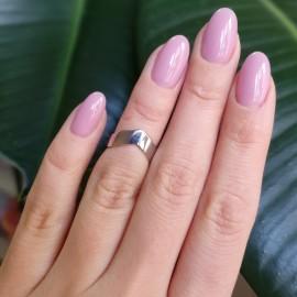 Серебряное кольцо на фалангу без камней Треугольник