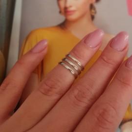Серебряное кольцо на фалангу без камней Трио
