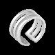 Серебряное кольцо на фалангу без камней Трио ВС-113р