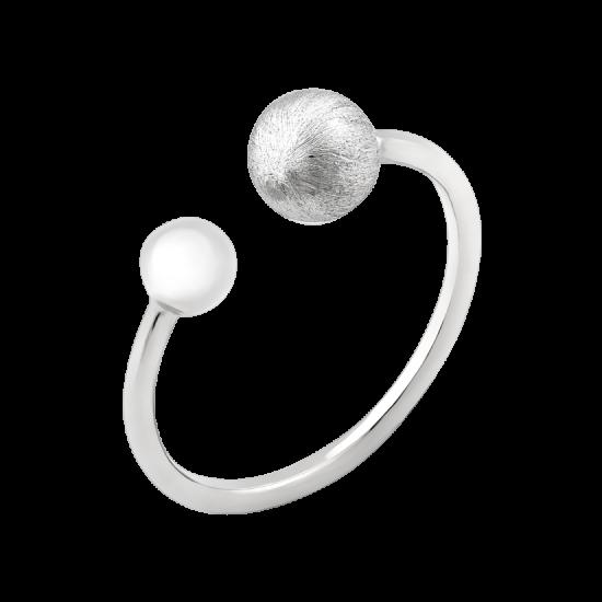 Серебряное кольцо Притяжение с двумя сферами ВС-147р