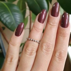 Серебряное кольцо без камней маленькие Бусинки
