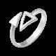 Комплект серебряный Треугольники без камней ВС-184_ВС-148р