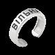 Серебряное кольцо ВІЛЬНА с черной эмалью и двумя сердечками ВС-185ч