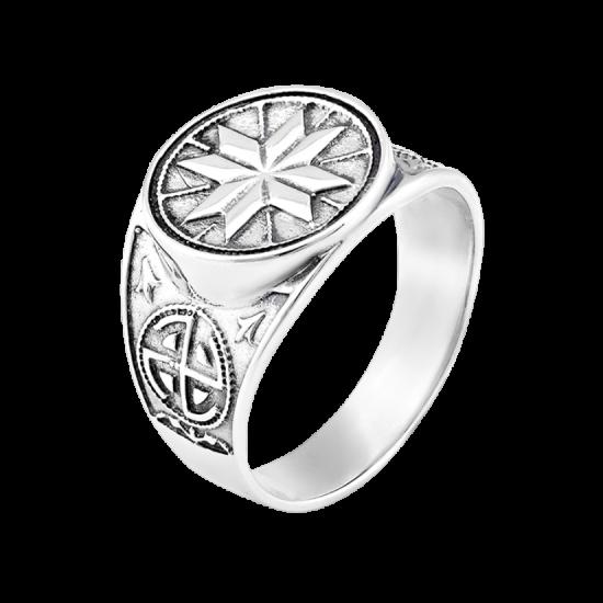 Кольцо серебряное  Г3130ч