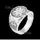 Мужское серебряное кольцо печатка Северная звезда с чернением Г-3130ч