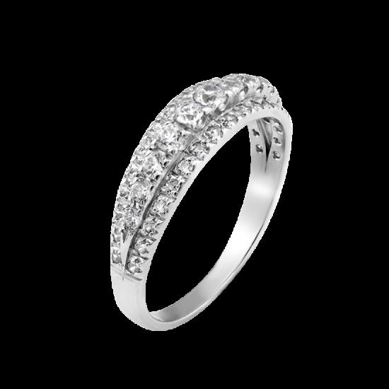 Серебряное кольцо Л-004