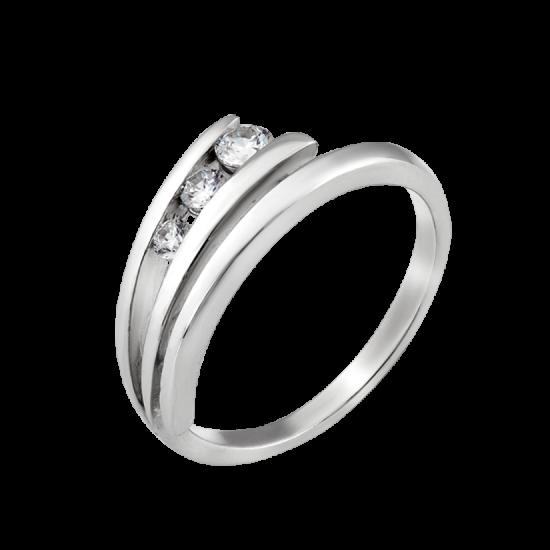Серебряное кольцо  Л-011