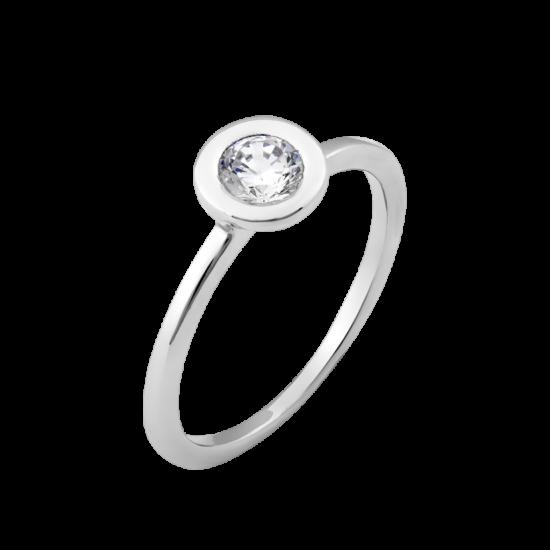 Серебряное кольцо с одним камнем Солнце Л-015