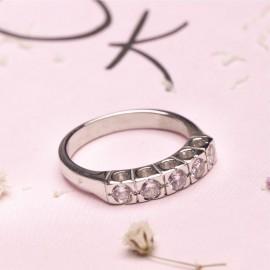 Серебряное кольцо с камнями Пять Квадратов