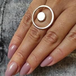 Серебряное кольцо Солнечная Система без камней