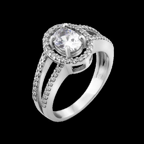 Кольцо серебряное  ЛК-0001