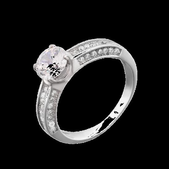 Серебряное кольцо ЛК-0014