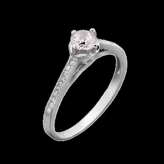 Серебряное кольцо с камнем ЛК-0023
