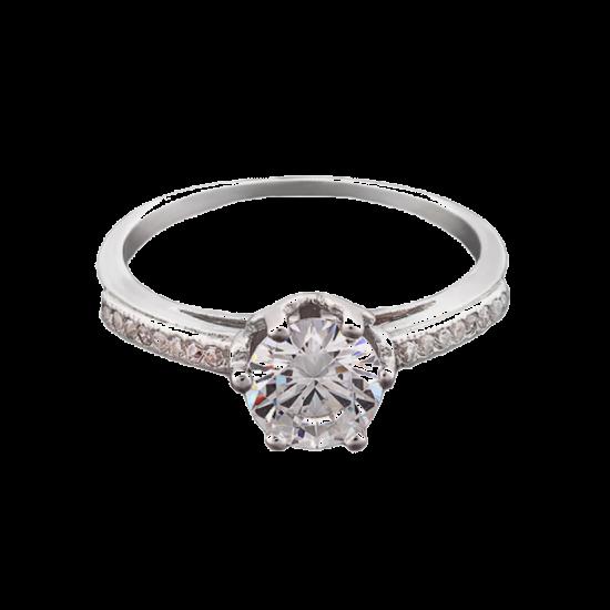 Серебряное кольцо  ЛК-0026