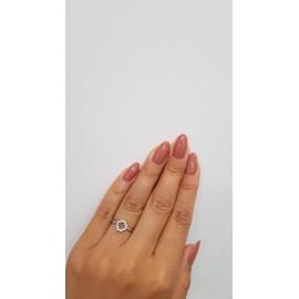 Кольцо Серебряный Мак