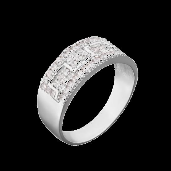 Серебряное кольцо  ЛК-0036