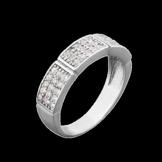 Кольцо серебряное  ЛК-0037