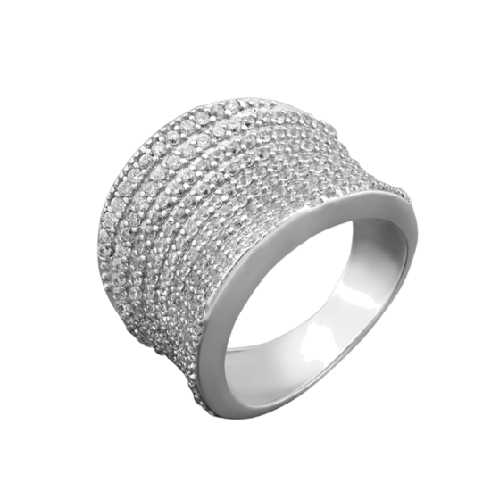 Серебряное кольцо широкое ЛК-0042