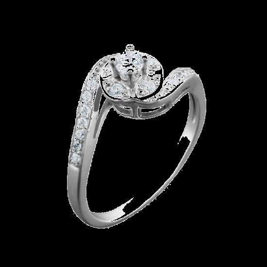 Кольцо серебряное  ЛК-0047