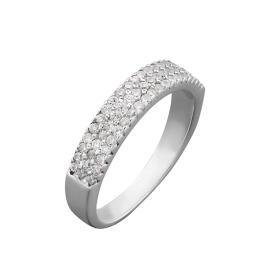 Серебряное кольцо дорожка Лаура ЛК-0050рК
