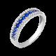 Комплект серебряный с разноцветной дорожкой сережки и кольцо ЛК-0053