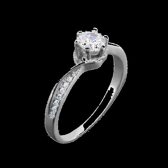 Серебряное кольцо ЛК-0061