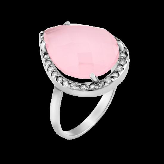 Серебряное кольцо с большим камнем ЛК-0062