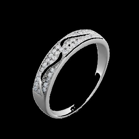 Серебряное кольцо дорожка Волны ЛК-0070рК