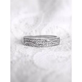 Серебряное кольцо дорожка Волны