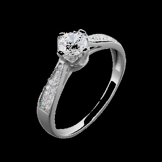 Серебряное кольцо ЛК-0071