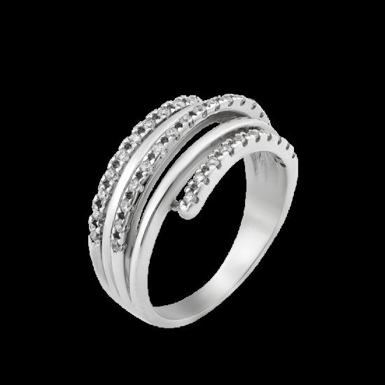 Кольцо серебряное  ЛК-0075