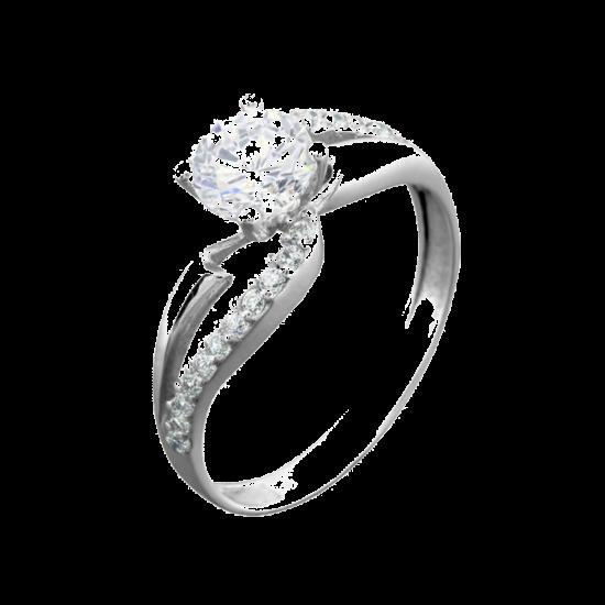 Серебряное кольцо с камнем ЛК-0077