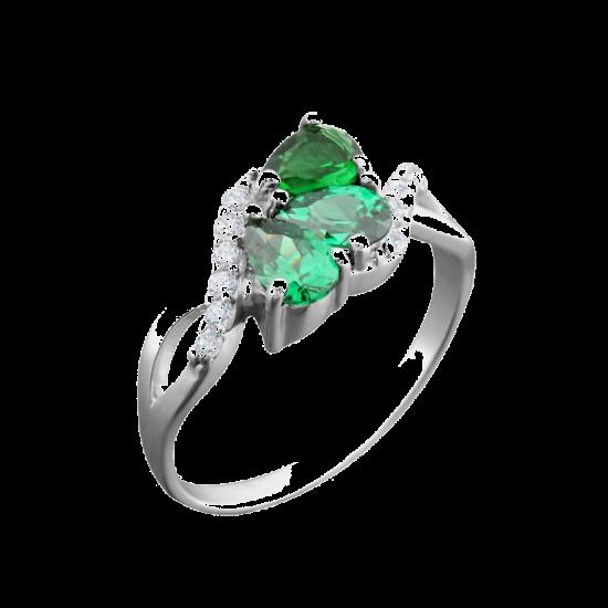 Серебряное кольцо ЛК-0081