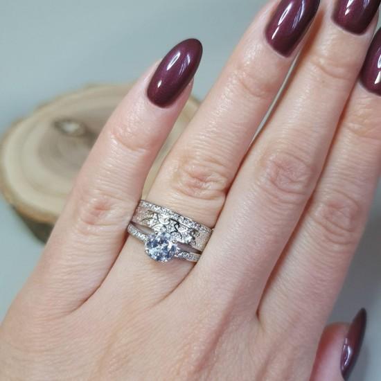 Серебряное кольцо  ЛК-0107