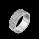 Серебряное кольцо узкий Орнамент основа ЛК-0116