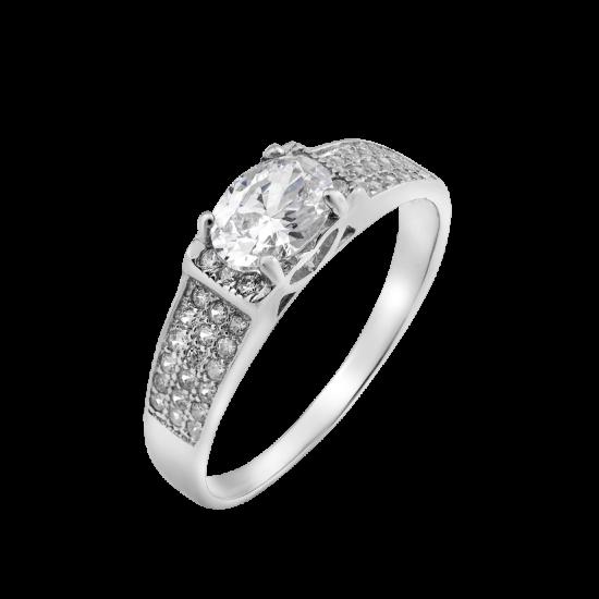 Серебряное кольцо с овальным камнем Руэлия ЛК-0118