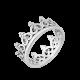 Серебряное кольцо Корона с фианитами ЛК-0122